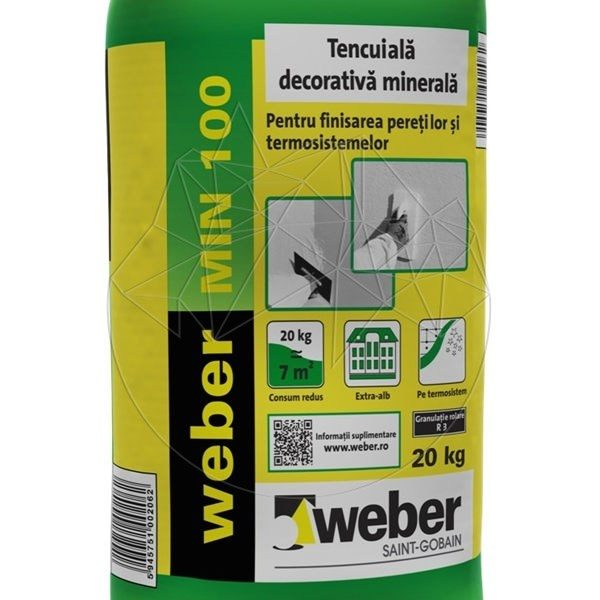 Tencuiala Decorativa Weber.Tencuiala Decorativa Minerala Weber Min 100 20kg Epiatra Ro